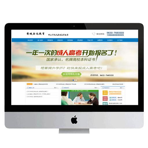 薛城岳达教育官网网站建设与设计制作